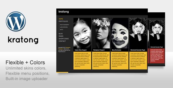 Kratong - Flexible Portfolio and Blog Template for Sale