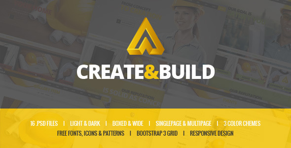 Create & Build - Construction & Building template by mwtemplates ...