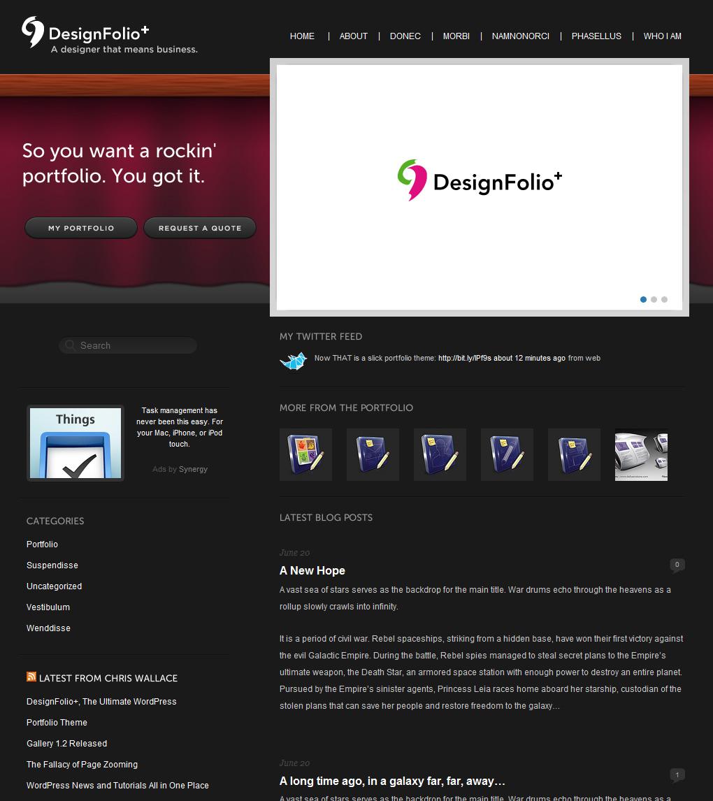 DesignFolio Theme