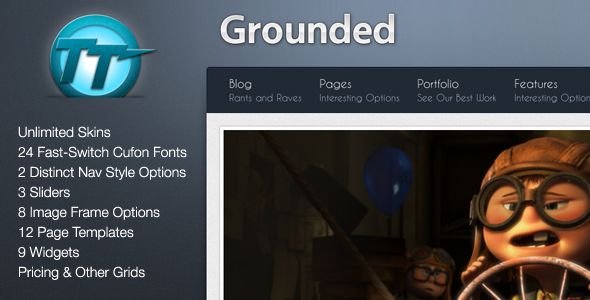Grounded - Professional WordPress Theme for Sale