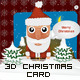 Three 3D Christmas Cards - ActiveDen Item for Sale