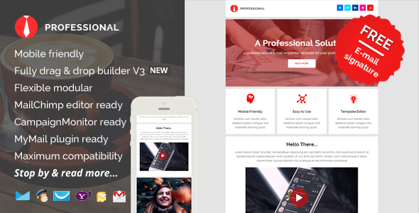 professional e mail newsletter pack by saputrad themeforest