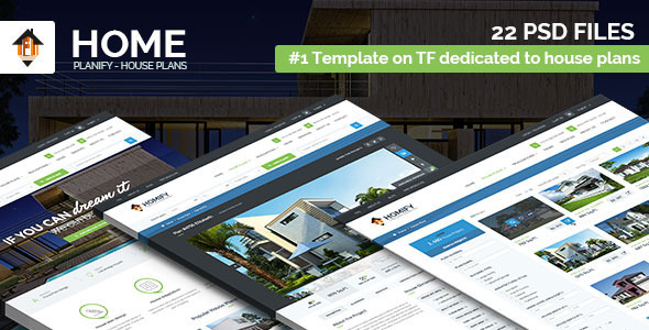 Home Planify   House Plans U0026 Construction PSD Template   Corporate PSD  Templates