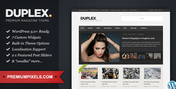 Duplex - WordPress Themes for Sale