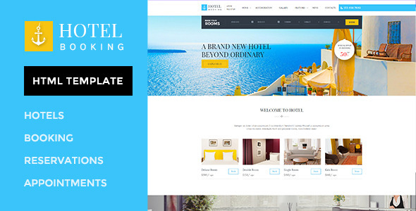 hotel booking html template for hotels by wpmines themeforest