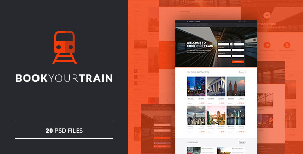 Book Your Train - Online Booking PSD Template by bestwebsoft ...