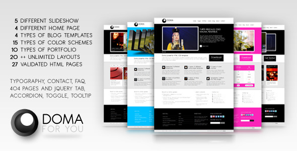 Doma powerful HTML, CSS template - RIP