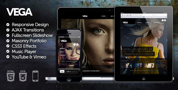 Vega HTML5 Responsive Template by flashedge | ThemeForest