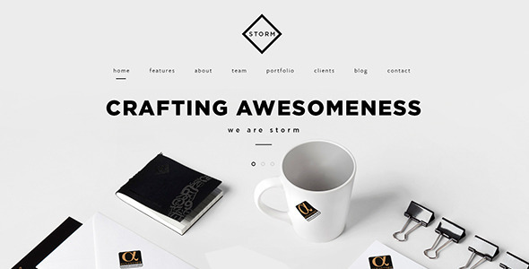 STORM   Creative One Page HTML5 Template by jellythemes   ThemeForest