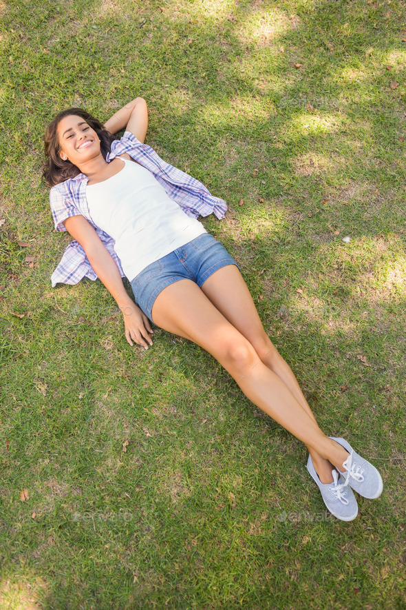 Outdoor blowjob by slender young brunette Alice March on the grass № 1639504  скачать