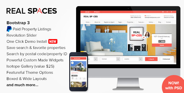 Real Spaces - WordPress Real Estate Theme by imithemes | ThemeForest