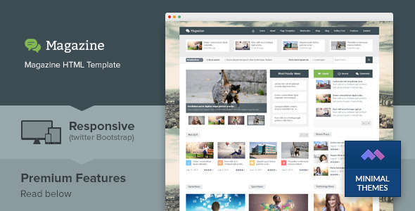 Magazine - Responsive Multipurpose HTML Template by minimalthemes ...