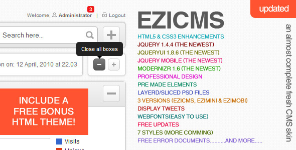 eziCMS Complete CMS Template professional website template