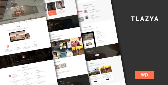 Tlazya - Creative OnePage Parallax WordPress Theme by fatondesigns