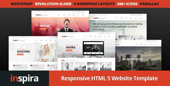 Inspira Responsive HTML Website Template By Designesia ThemeForest - Html homepage template