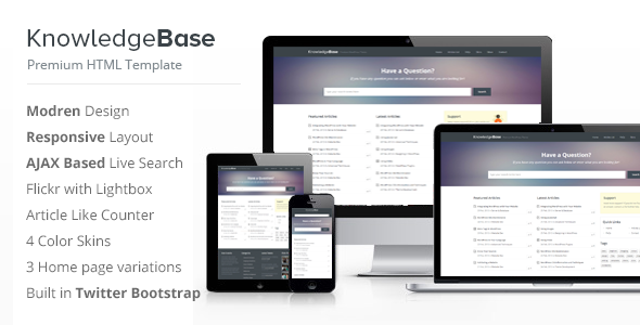 Knowledge base html template by inspirythemes themeforest knowledge base html template miscellaneous site templates maxwellsz