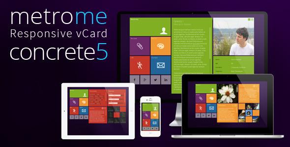 metroMe - Concrete5 Responsive vCard Theme by tudor_sv   ThemeForest