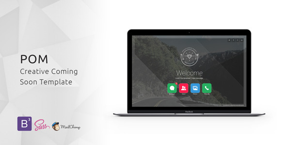 Download POM - Creative Coming Soon Template HTML Template