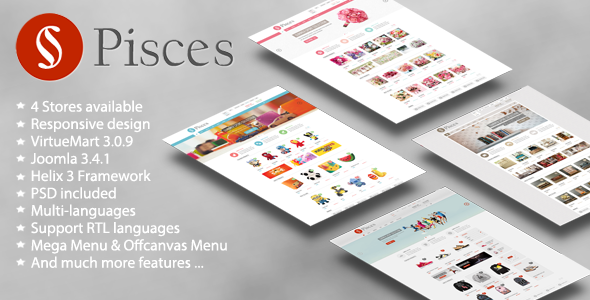 Pisces - Multipurpose Joomla & VirtueMart Template by VinaWebSolutions