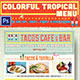 Colorful Tropical Menu-Graphicriver中文最全的素材分享平台