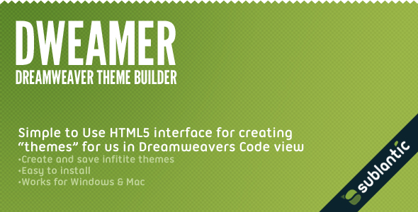 Dweamer - Dreamweaver Theme Builder