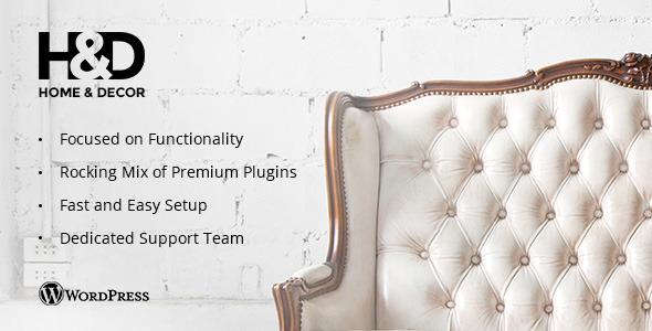 HD Interior Design WordPress Theme by deTheme ThemeForest