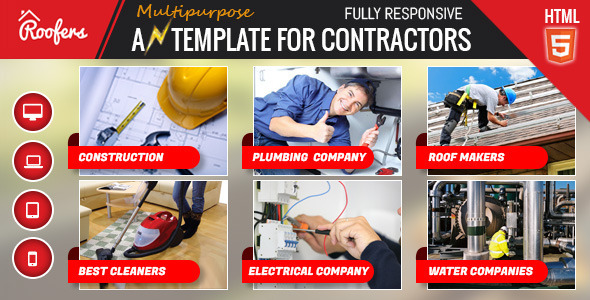 Roofers - Construction & Contractor HTML Template by ewebcraft ...