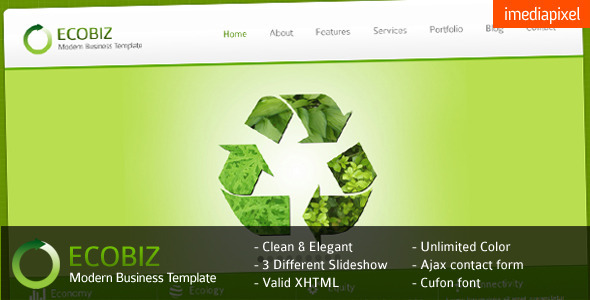 ECOBIZ - Corporate and Business HTML Template by imediapixel ...