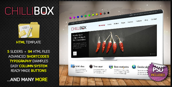 ChilliBox Premium HTML professional website template