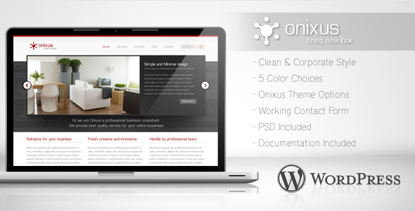 Onixus - Corporate Business WordPress Theme for Sale