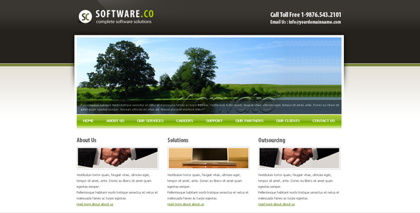 Software Co Html Template By Settysantu ThemeForest - Html site template
