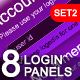 8 Modern & Web 2.0 Login/Signup Panels