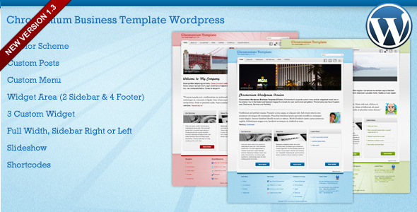 Chromonium Business Template WordPress theme