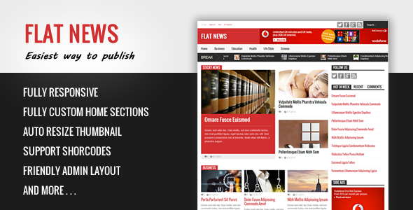Flat News - Easy News & Magazine Template by tiennguyenvan ...