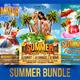 Summer Flyer Bundle V2-Graphicriver中文最全的素材分享平台