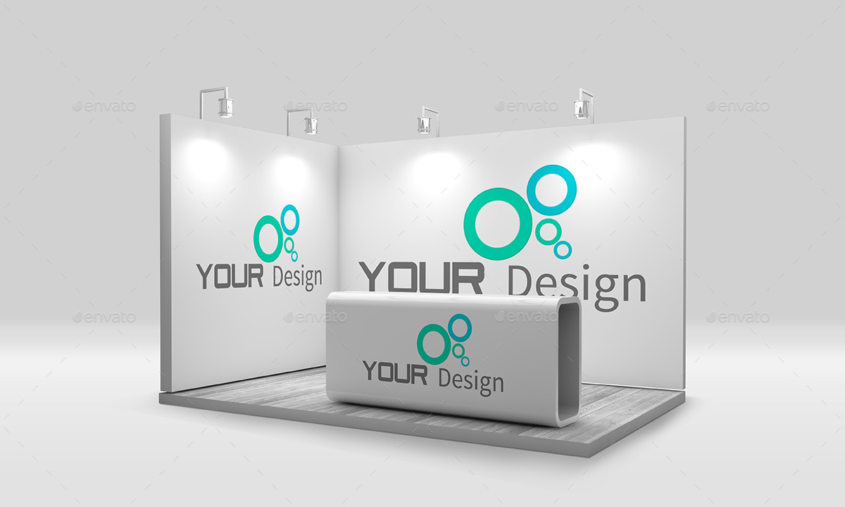 Exhibition Stall Mockup Psd : Wylixe trade show display mockup free