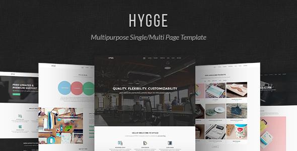Hygge Multipurpose SingleMulti Page Template by elemis ThemeForest
