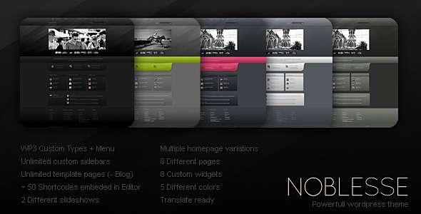 Noblesse (Creative) WordPress Theme for Sale