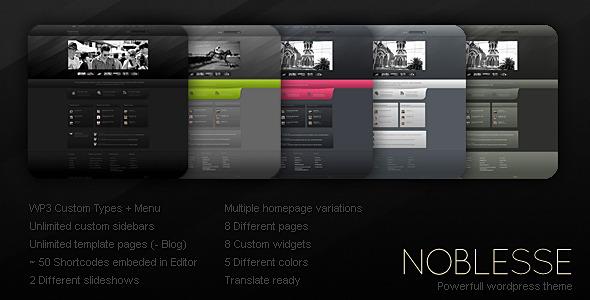 Noblesse (Creative) WordPress Theme for Sale