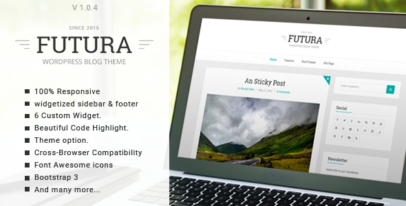 Futura responsive minimal blog theme by gbjsolution themeforest pronofoot35fo Gallery