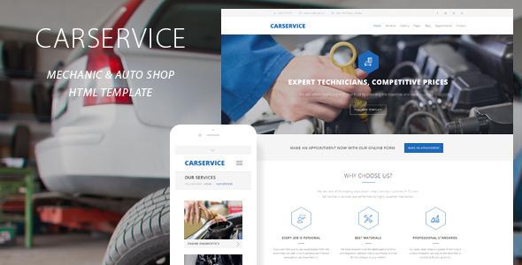Car Service Mechanic Auto Shop Template By Quanticalabs