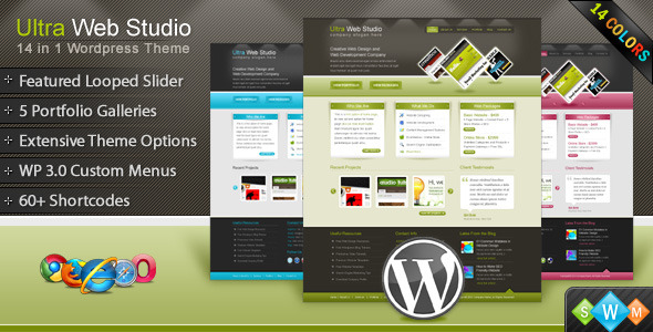 Ultra Web Studio, Blog & Portfolio WordPress Theme