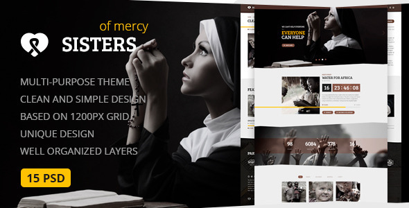 Sisters of mercy nonprofit charity church psd template by torbara sisters of mercy nonprofit charity church psd template churches nonprofit maxwellsz