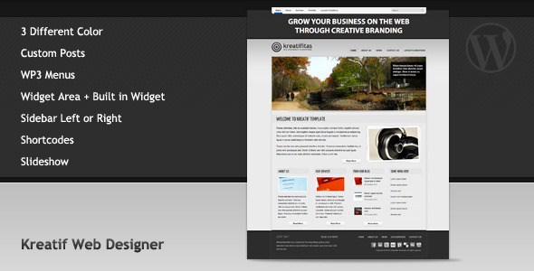 Kreatif Web Designer (Portfolio) Theme for Sale