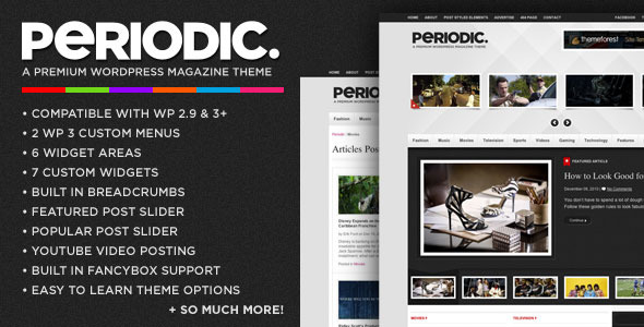 Periodic - A Premium WordPress Magazine Theme (News / Editorial) for Sale