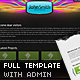 Slick Full Website Template with CMS and 2 Skins