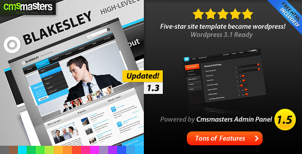 Blakesley - Premium Business & Portfolio wordpress (Corporate) for Sale
