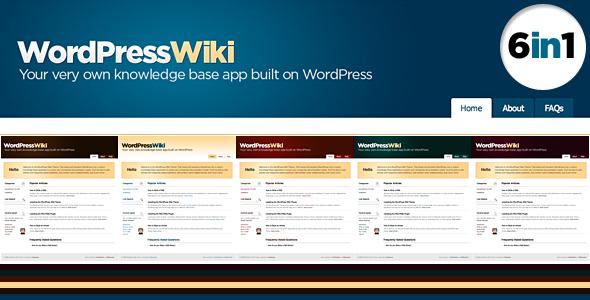 Themeforest: Wiki – WordPress Theme