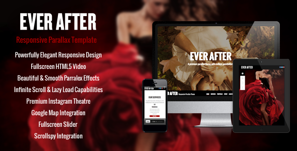 Ever After - OnePage Parallax Concrete5 Theme by xxcriversxx ...