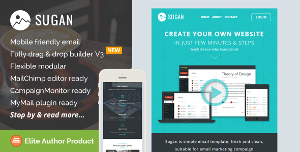 sugan responsive email template builder access by saputrad themeforest. Black Bedroom Furniture Sets. Home Design Ideas